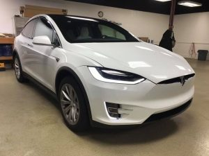 Tesla Model X Clear Bra1